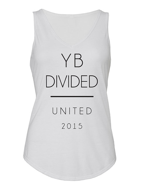UNITED 2015 flows v-neck scallop tank (white)