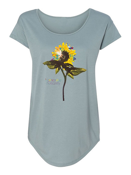 SUNFLOWER scoop neck scallop tee (sky blue)