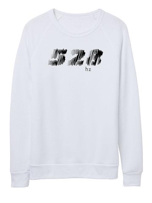 528 hz unisex eco-fleece sweater (white)