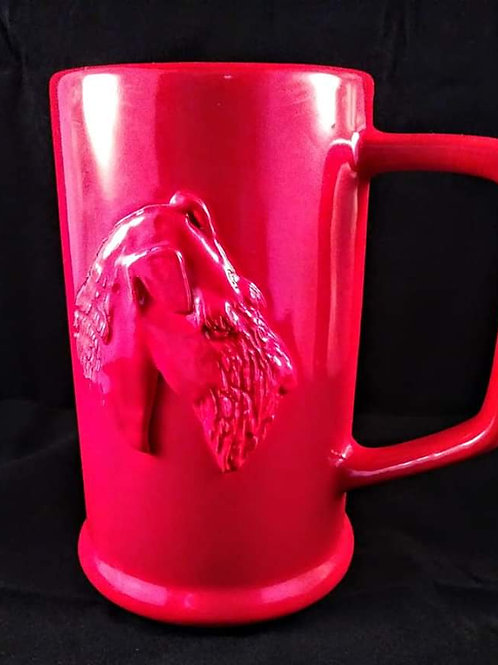 Hand Carved Profile Stein Mug