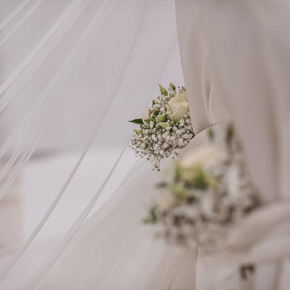 Addobbo matrimonio total white