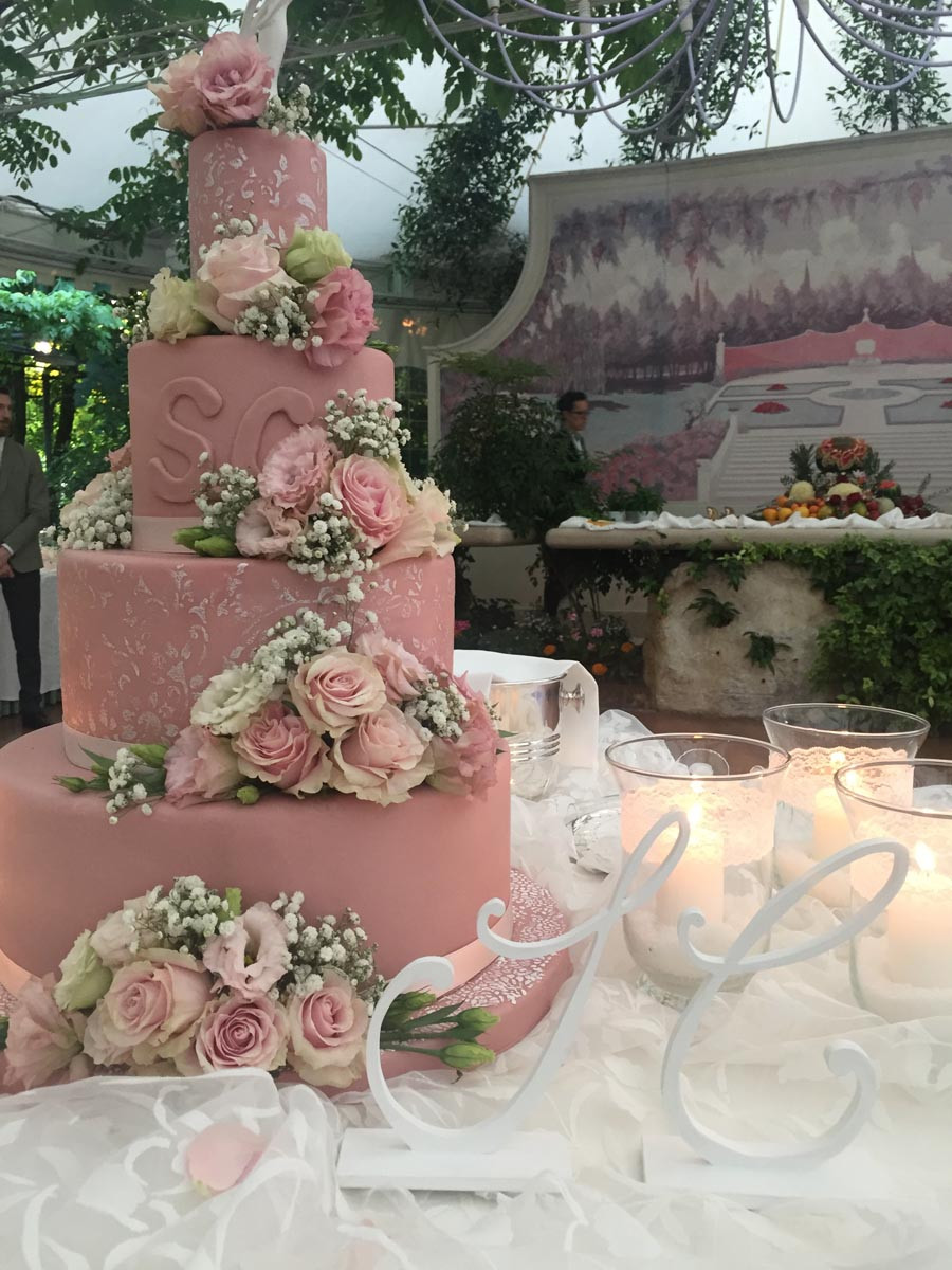 wedding cake rosa rosa brescia manerbio
