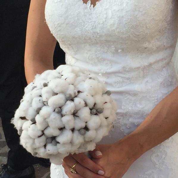 bouquet sposa fiori di cotone