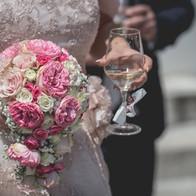 bouquet a goccia rosa rose inglesi