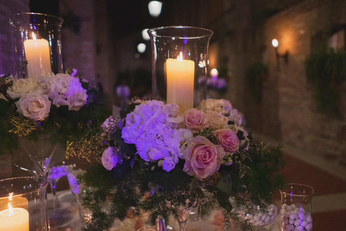 fiori matrimonio americana candele brescia