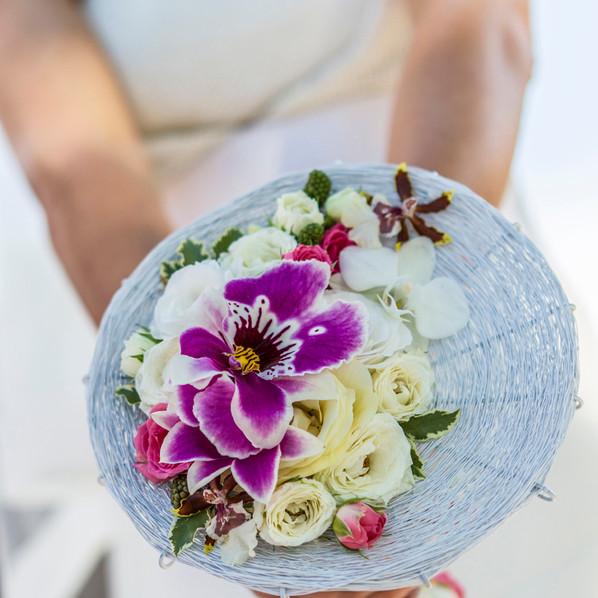 bouquet sposa design viola brescia manerbio