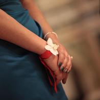 fiori matrimonio bianco e rosso candele