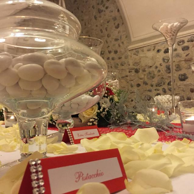 confettata bianco rosso invernale brescia