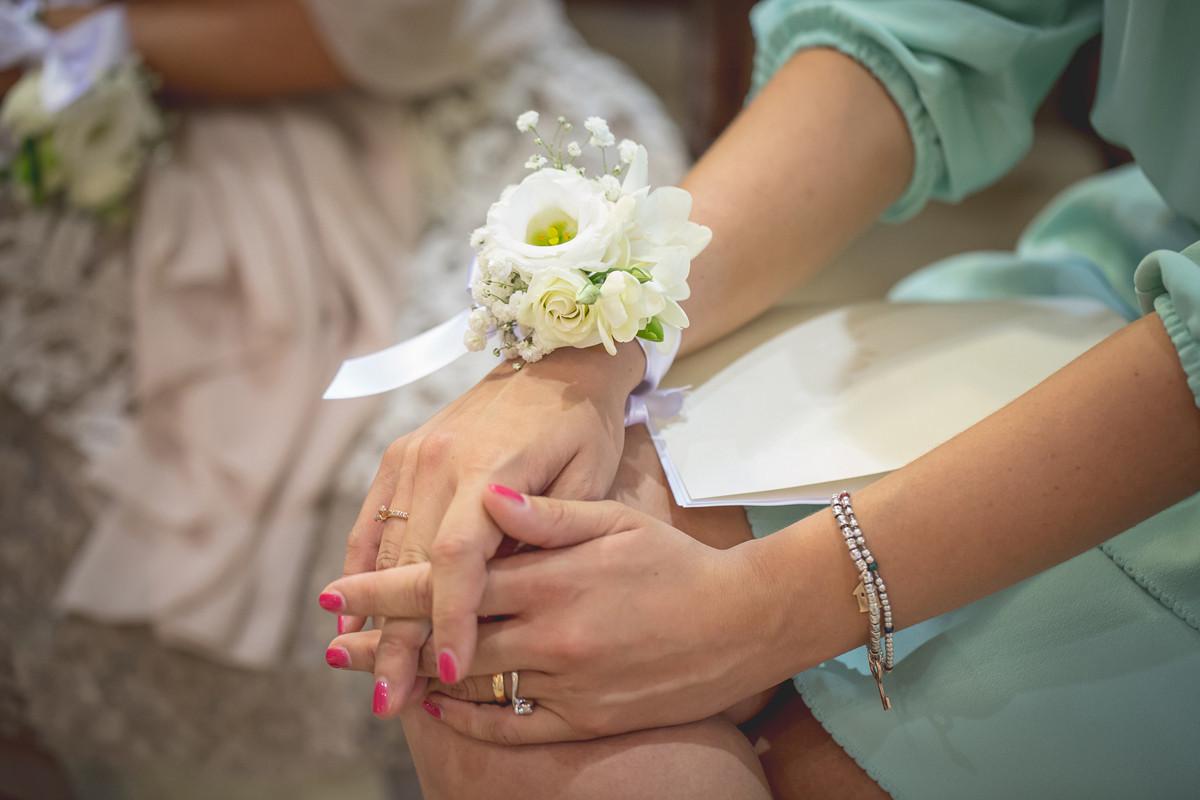 braccialetto damigelle fiori matrimonio