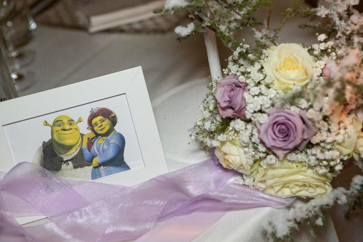 tableau mariage shrek wedding planner