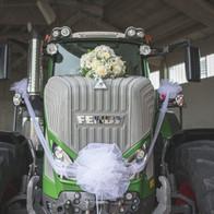 addobbo trattore fiori matrimoni brescia