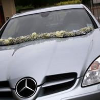 addobbo auto matrimonio elegante brescia