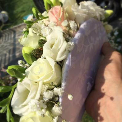 bouquet sposa ventaglio bianco brescia