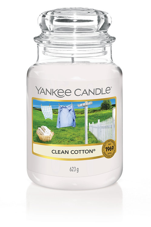Clean Cotton - Yankee candle - Giara Grande