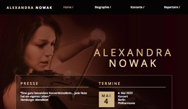 HTML Homepage Vorlagen für Musik   Wix