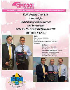 Canadian Distributor of the Year 2012