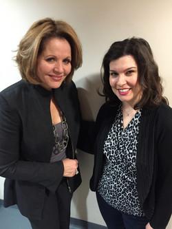 Posing with Renee Fleming