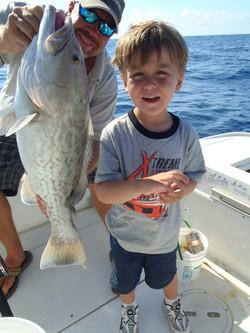 Kid friendly deep sea fishing crew