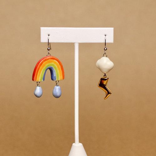Rainbow Lightning Earrings
