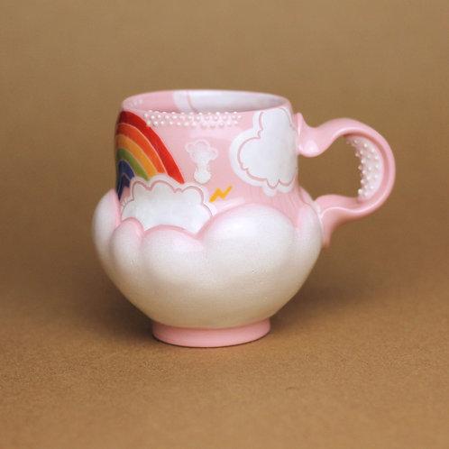 9oz Piglet Pink Rainbow Mug
