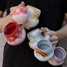 Rainbow Cloud Mugs