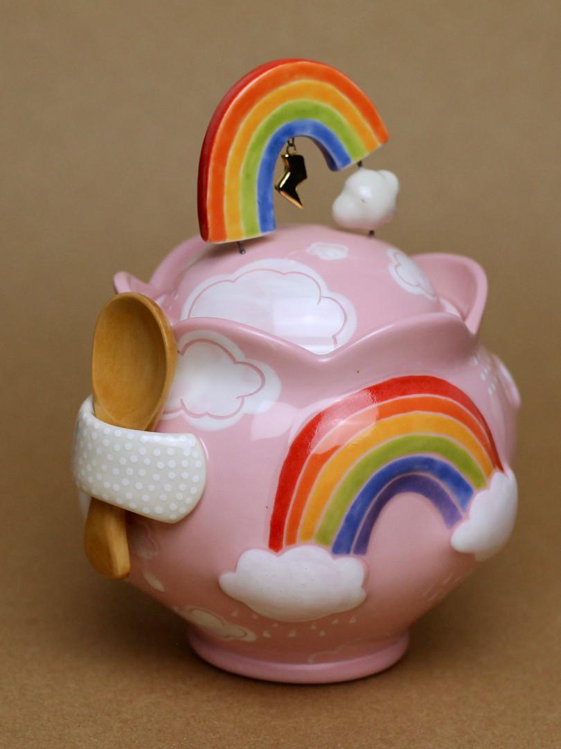 Piglet Pink Rainbow Jar