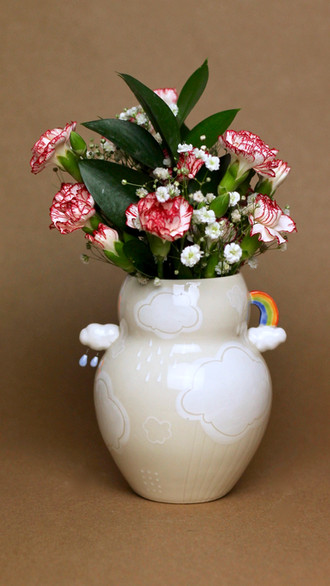 Cloudy Day Vase