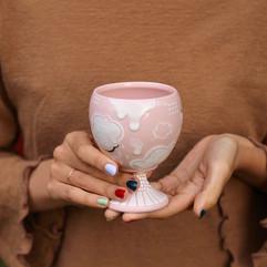 Piglet Pink Goblet