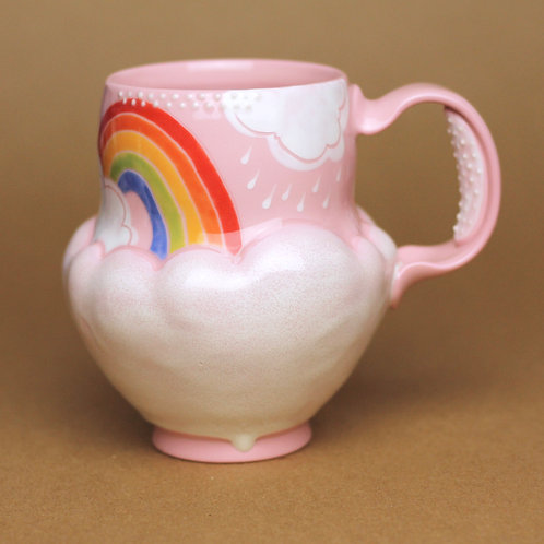16oz Piglet Pink Rainbow Mug