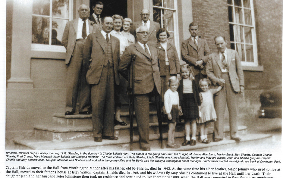 Shields & Blunt family, Breedon Hall c.1950