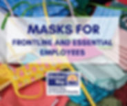Masks for frontline and essential employ
