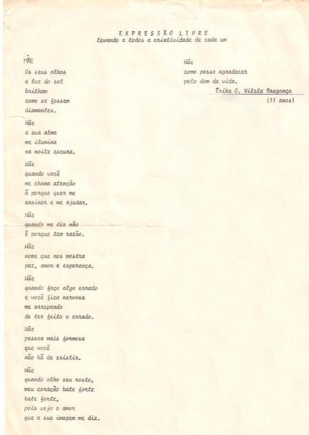 Poesia Dia das Mães