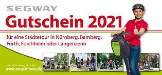 Geschenkgutschein, Segwaytour Nürnberg, Fürth, Bamberg, Forchheim, Langenzenn