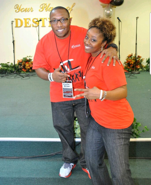 Host church Minister, Min. Hikeem, with JBduring our 1st WTL conference