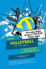 Copy of Volleyball Game Flyer Template -