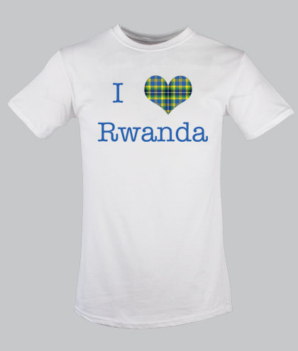 Rwanda Heart Tartan for Children 0-12 years old