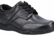 Black Harvey Senior School Shoe
