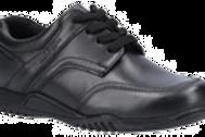 Black Harvey Junior School Shoe