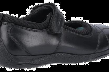 Black Clara Junior School Shoe