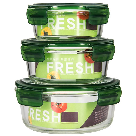 Portable Microwave Oven Safe Glass Dishes for Home, Leakproof Lid, Bento Bowls