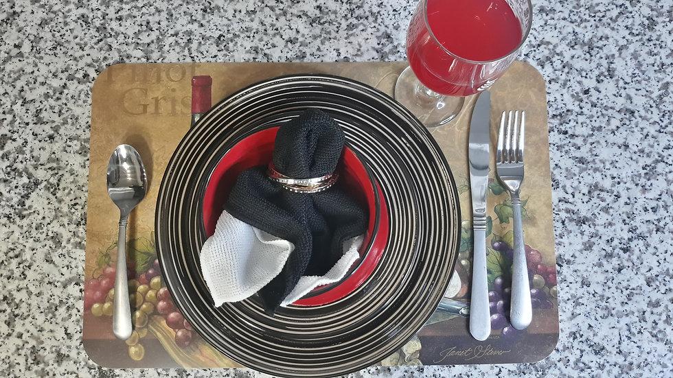 Luxury Emboss Ceramic stoneware dinnerware set