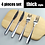 Thumbnail: Golden/Black Stainless Steel Dinner Cutlery Gift Set