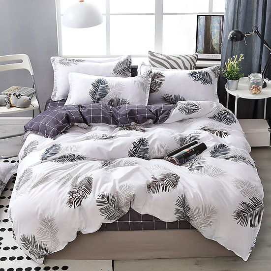 Lanke Cotton Bedding Sets, All Sizes, With Bed Sheet Comforter Set Pillow Case