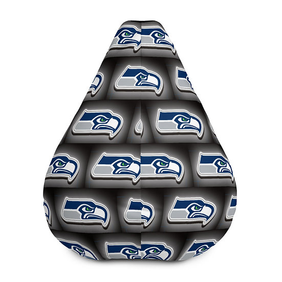 Seattle Seahawks Bean Bag Chair For Sports Fans, Man Caves, or Home Decor
