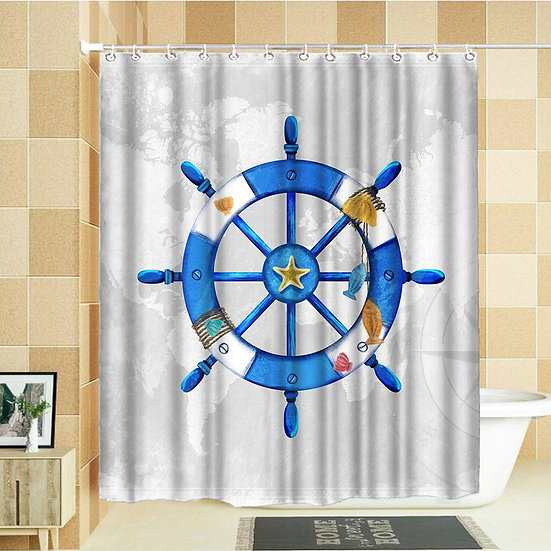 copy of VISUAL BEAUTY 100% Polyester Fabric Shower Curtain Set