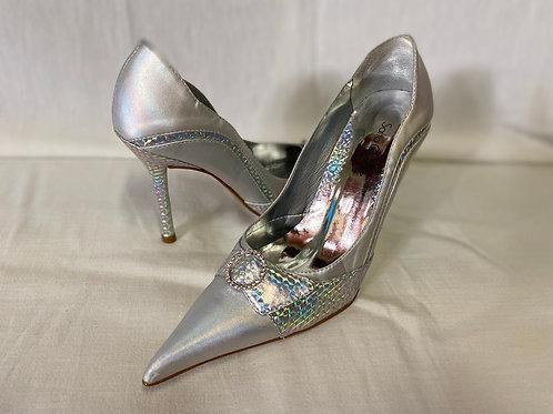Sapato agulha metal cristal