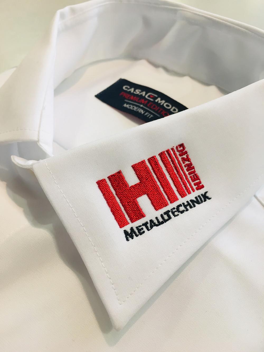 Hemden von Casa Moda mit besticktem Logo am Kragen