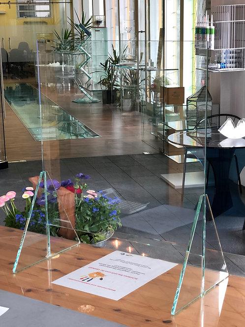 Spuckschutz aus Glas