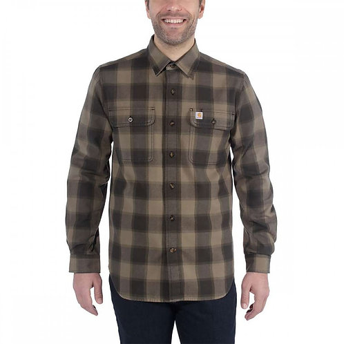 HUBBARD SLIM-FIT FLANNEL SHIRT - Carhartt - 104144