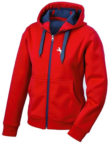 Sweatshirtjacke Herren, rot